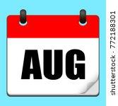 august calendar icon.vector...