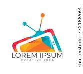 tv media logo design. tv... | Shutterstock .eps vector #772188964