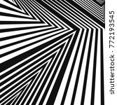 vector black and white zigzag... | Shutterstock .eps vector #772193545
