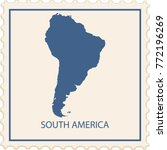 south america map stamp vector | Shutterstock .eps vector #772196269