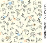 seamless winter pattern with... | Shutterstock .eps vector #772199644