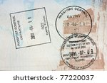 passport  visa stamps exit and... | Shutterstock . vector #77220037