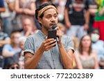 a dreamer activist speaks at a... | Shutterstock . vector #772202389