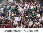 activists signs express support ... | Shutterstock . vector #772202425