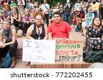 activist wearing a t shirt... | Shutterstock . vector #772202455