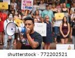 activists signs express support ... | Shutterstock . vector #772202521