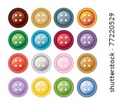 set of colorful sewing buttons  ... | Shutterstock .eps vector #77220529