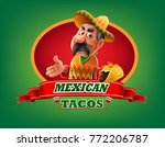 mexican food menu | Shutterstock .eps vector #772206787