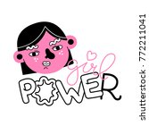 girl power vector print. design ... | Shutterstock .eps vector #772211041