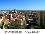amazing aerial view of old town ... | Shutterstock . vector #772218154