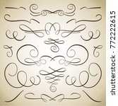 collection of vector... | Shutterstock .eps vector #772222615