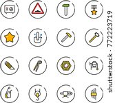 line vector icon set   safe... | Shutterstock .eps vector #772223719