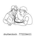 caring for the elderly... | Shutterstock .eps vector #772226611