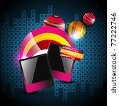 vector photo frame on artistic... | Shutterstock .eps vector #77222746