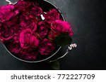 luxury gothic style flower... | Shutterstock . vector #772227709