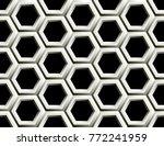 seamless pattern of hexagons   Shutterstock .eps vector #772241959