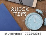 quick tips concept.book... | Shutterstock . vector #772243369
