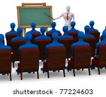 group of students and teacher... | Shutterstock . vector #77224603