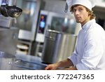 picture showing busy chef at... | Shutterstock . vector #772247365