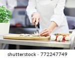 picture showing busy chef at...   Shutterstock . vector #772247749