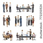business people vector team or... | Shutterstock .eps vector #772253524