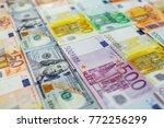 euro money. euro cash... | Shutterstock . vector #772256299