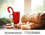 christmas gingerbread  candy ... | Shutterstock . vector #772256881