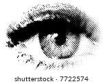 Vector Halftone Eye Shape For...