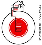 ecological heating of the house ...   Shutterstock .eps vector #772259161