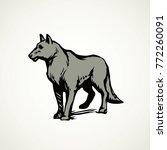 furry gray canidae lagopus... | Shutterstock .eps vector #772260091