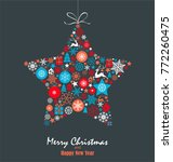 christmas background with star. ... | Shutterstock .eps vector #772260475