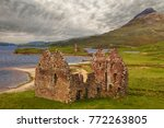 ardvreck castle on the shores... | Shutterstock . vector #772263805