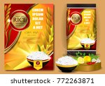 rice packaging  thailand food...   Shutterstock .eps vector #772263871
