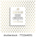 christmas background with... | Shutterstock .eps vector #772264051