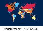 color world map vector | Shutterstock .eps vector #772266037