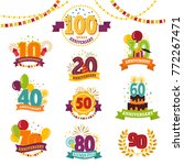 anniversary badges set vector... | Shutterstock .eps vector #772267471