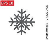 snowflake icon. snowflake icon | Shutterstock .eps vector #772272931