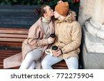young beautiful stylish couple... | Shutterstock . vector #772275904
