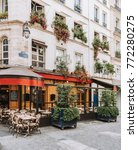 typical view of the parisian...   Shutterstock . vector #772280275