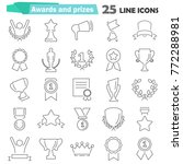 awards and prizes line icons... | Shutterstock .eps vector #772288981