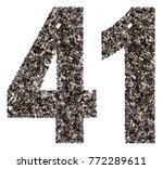 arabic numeral 41  forty one ... | Shutterstock . vector #772289611