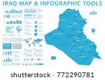 iraq map   detailed info... | Shutterstock .eps vector #772290781