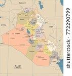 iraq map   vintage high... | Shutterstock .eps vector #772290799