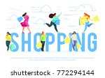 shopping. banner template with... | Shutterstock .eps vector #772294144