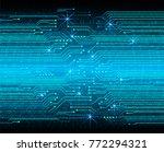 binary circuit board future... | Shutterstock .eps vector #772294321