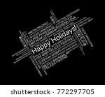 happy holidays in different... | Shutterstock .eps vector #772297705