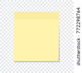 yellow sticky note isolated on... | Shutterstock .eps vector #772298764