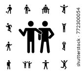 friends silhouette icon. set of ... | Shutterstock .eps vector #772300054