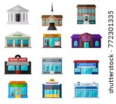 different shops  institutions... | Shutterstock .eps vector #772301335