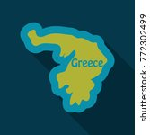 map of greece in flat style... | Shutterstock .eps vector #772302499